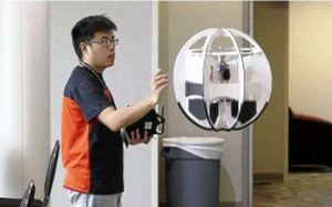 Spherical Drone Hovering